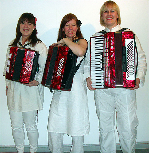 The red accordions